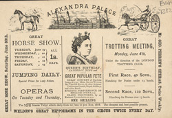 Advert for Alexandra Palace 1382